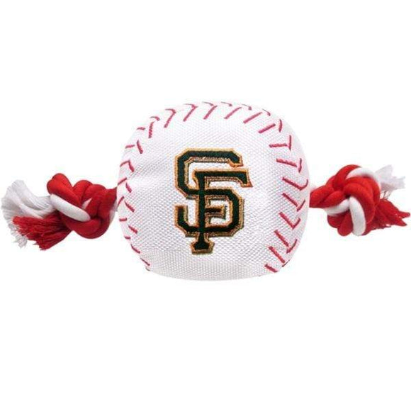 Pets First Dog-products MLB San Francisco Giants Nylon Baseball Rope Tug Toy