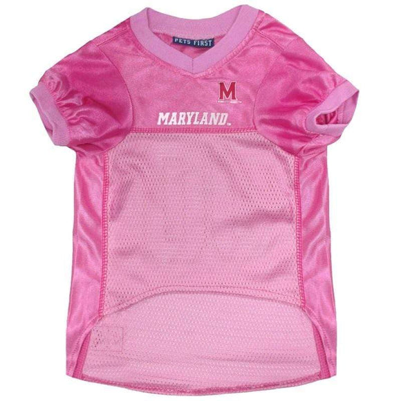 Pets First Dog-products NCAA Large Maryland Terrapins Pink Pet Jersey