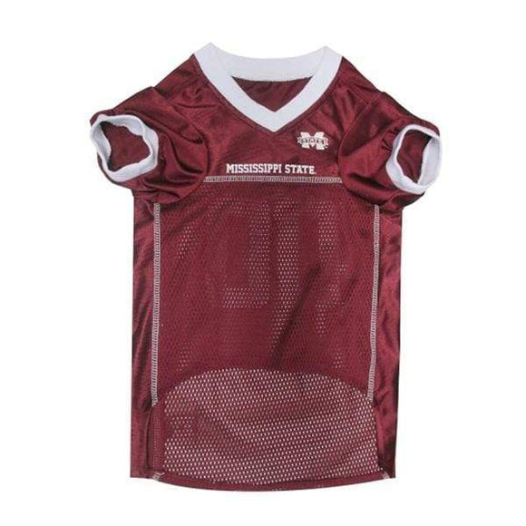 Pets First Dog-products NCAA Large Mississippi State Bulldogs Pet Jersey
