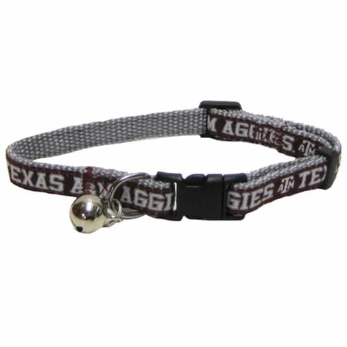 Pets First Dog-products NCAA Texas A&m Aggies Breakaway Cat Collar
