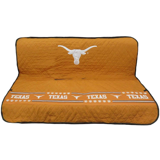 Pets First Dog-products NCAA Texas Longhorns Pet Car Seat Cover