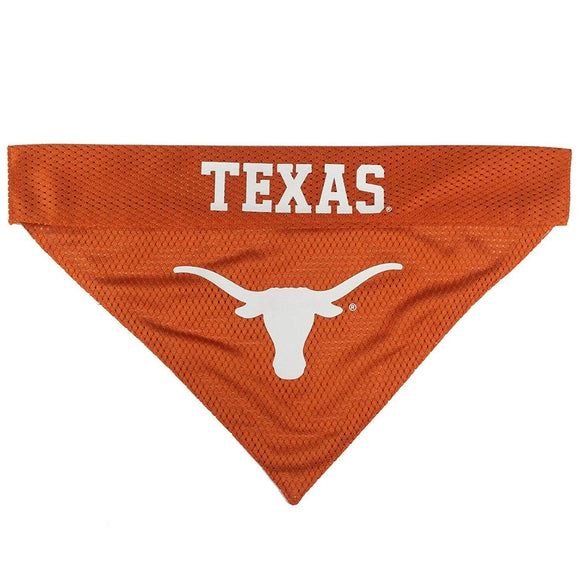 Pets First Dog-products NCAA L/XL Texas Longhorns Pet Reversible Bandana