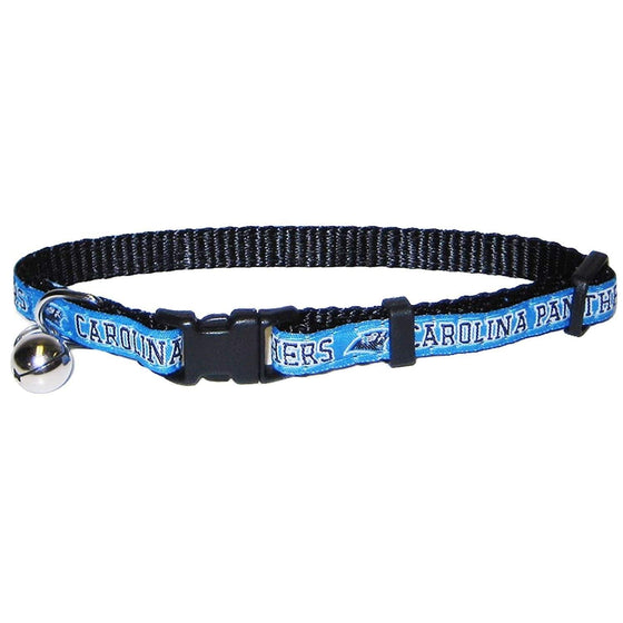 Pets First Dog-products NFL Carolina Panthers Breakaway Cat Collar