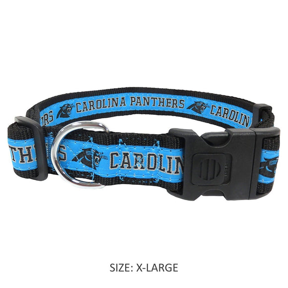 Pets First Dog-products NFL XL Carolina Panthers Pet Collar By Pets First