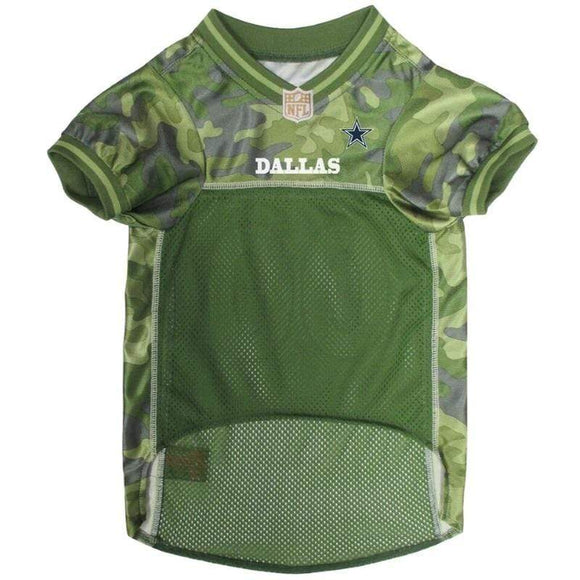 Pets First Dog-products NFL XL Dallas Cowboys Pet Camo Jersey
