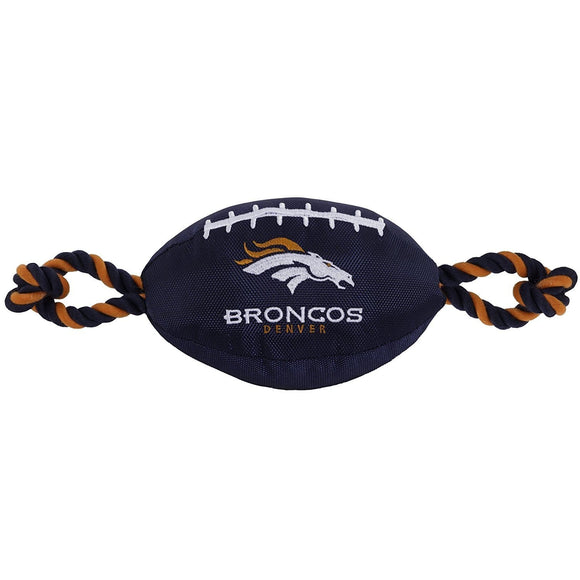 Pets First Dog-products NFL Denver Broncos Pet Nylon Football