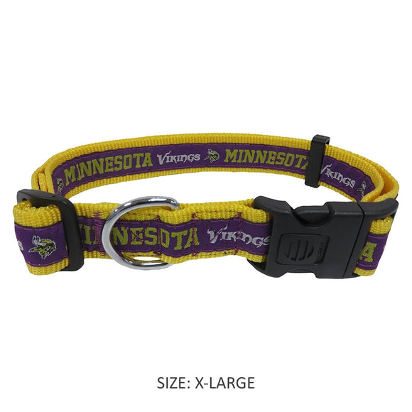 Pets First Dog-products NFL Medium Minnesota Vikings Pet Collar By Pets First