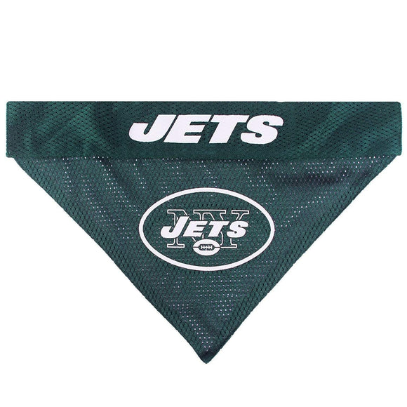 Pets First Dog-products NFL S/M New York Jets Pet Reversible Bandana