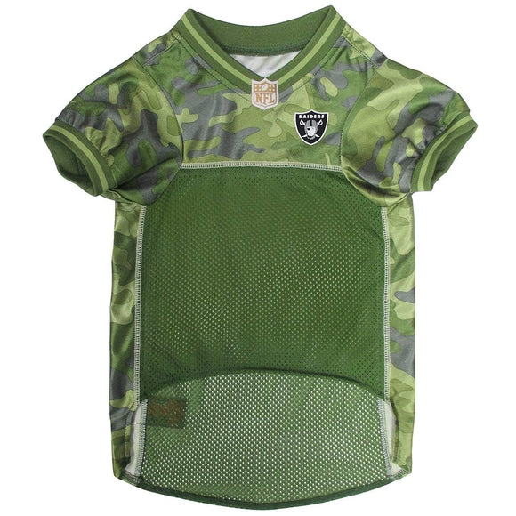 Pets First Dog-products NFL XL Oakland Raiders Pet Camo Jersey
