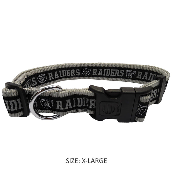 Pets First Dog-products NFL Medium Oakland Raiders Pet Collar By Pets First