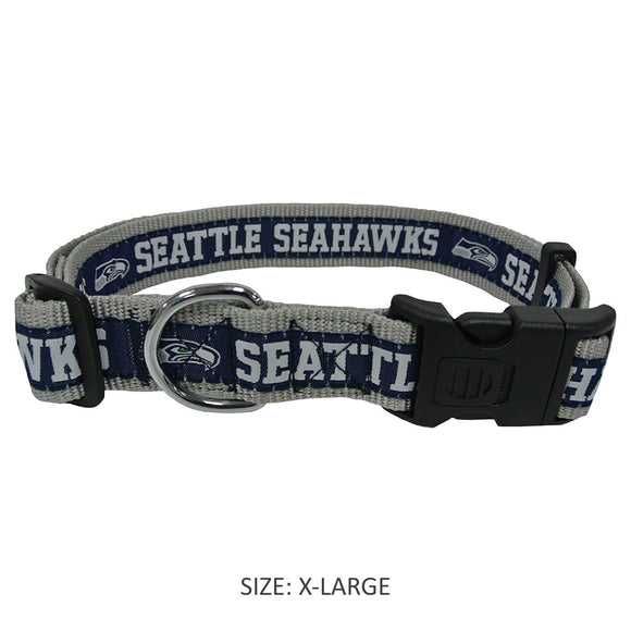 Pets First Dog-products NFL Large Seattle Seahawks Pet Collar By Pets First