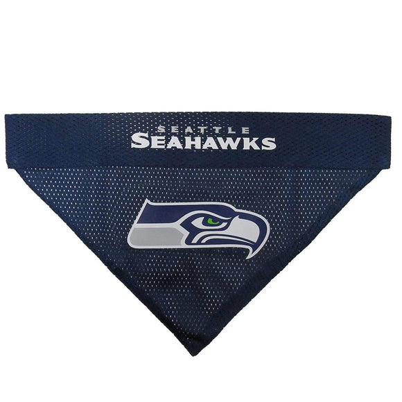 Pets First Dog-products NFL L/XL Seattle Seahawks Pet Reversible Bandana