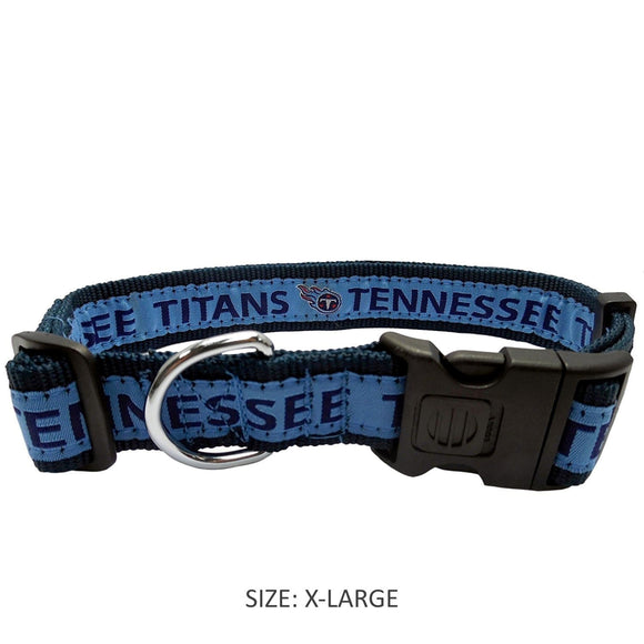 Pets First Dog-products NFL Medium Tennessee Titans Pet Collar By Pets First