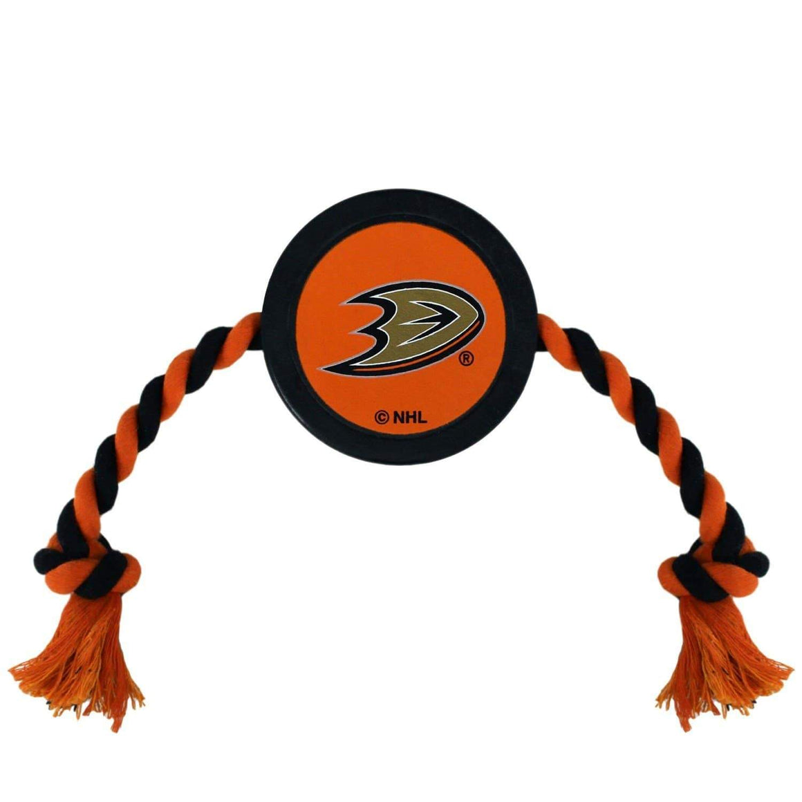 Pets First Dog-products NHL Anaheim Ducks Pet Hockey Puck Rope Toy