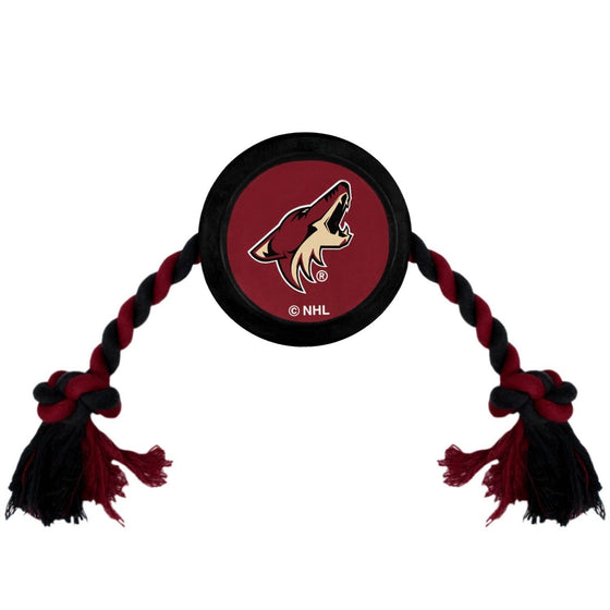 Pets First Dog-products NHL Arizona Coyotes Pet Hockey Puck Rope Toy