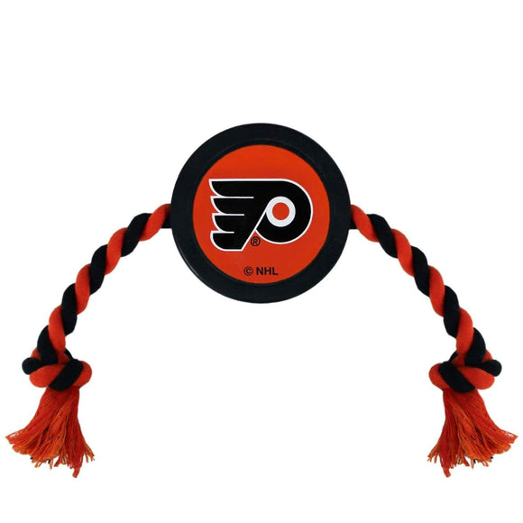 Pets First Dog-products NHL Philadelphia Flyers Pet Hockey Puck Rope Toy
