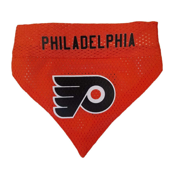Pets First Dog-products NHL L/XL Philadelphia Flyers Pet Reversible Bandana
