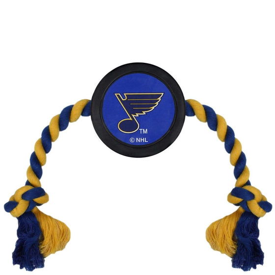 Pets First Dog-products NHL St. Louis Blues Pet Hockey Puck Rope Toy