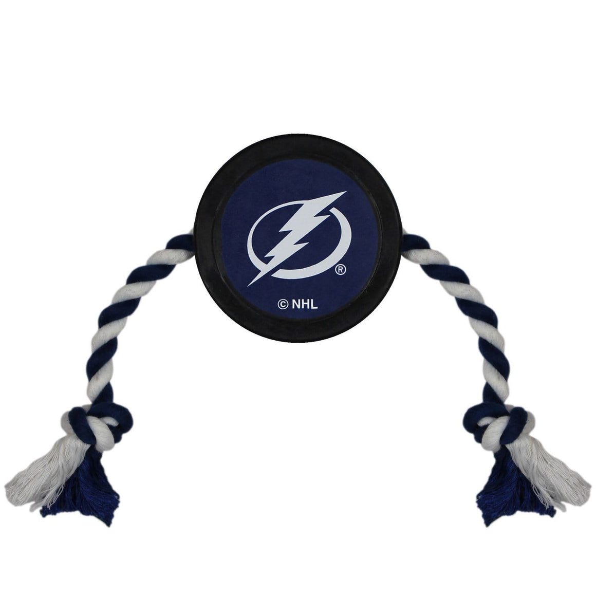 Pets First Dog-products NHL Tampa Bay Lightning Pet Hockey Puck Rope Toy