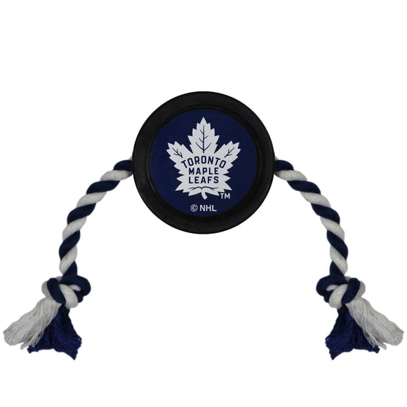 Pets First Dog-products NHL Toronto Maple Leafs Pet Hockey Puck Rope Toy