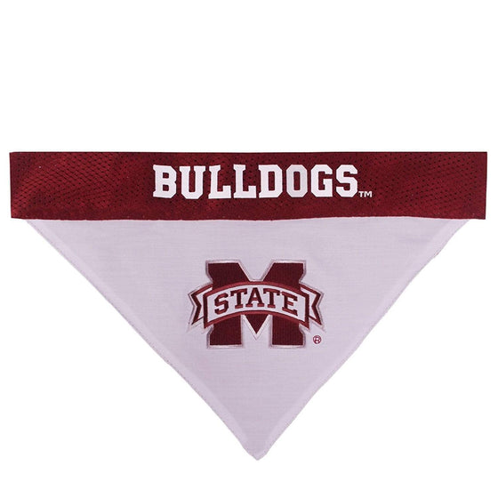 Pets First Dog-products NCAA L/XL Mississippi State Bulldogs Pet Reversible Bandana
