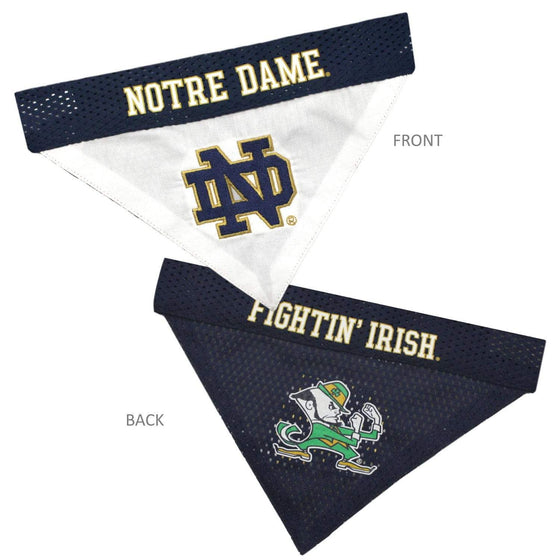 Pets First Dog-products NCAA L/XL Notre Dame Fighting Irish Pet Reversible Bandana