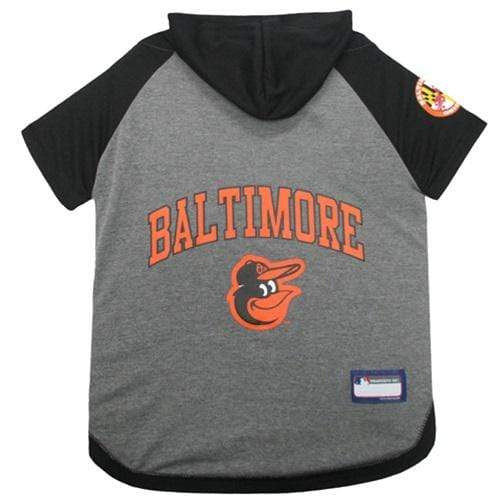 Pets First Dog-products MLB Large Baltimore Orioles Pet Hoodie T