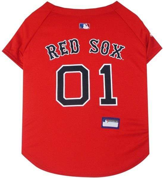 Pets First Dog-products MLB Large Boston Red Sox Pet Jersey