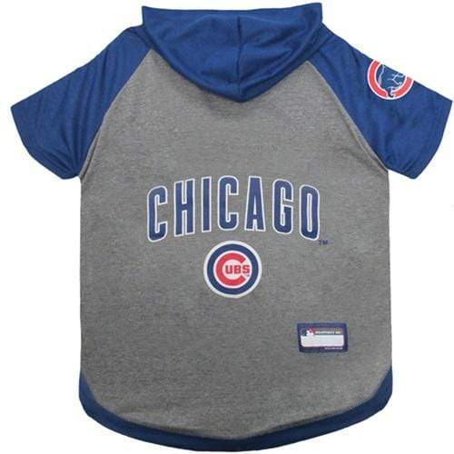 Pets First Dog-products MLB Large Chicago Cubs Pet Hoodie T
