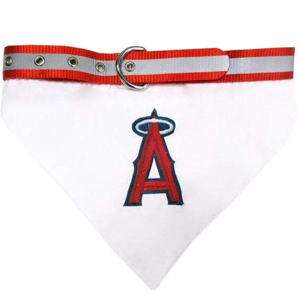 Pets First Dog-products MLB Large Los Angeles Angels Pet Collar Bandana