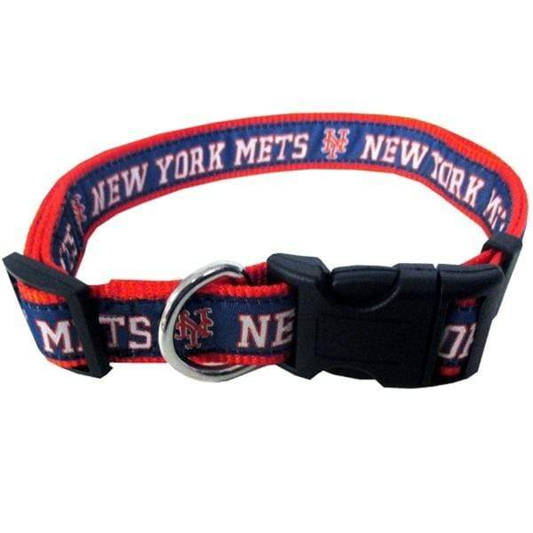 Pets First Dog-products MLB Large New York Mets Pet Collar By Pets First