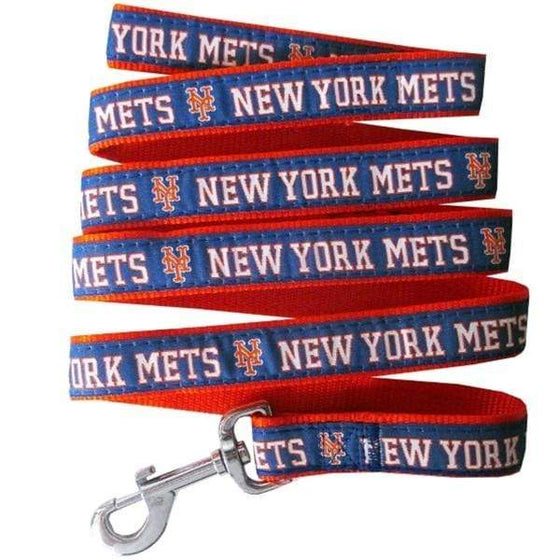 Pets First Dog-products MLB Large New York Mets Pet Leash By Pets First