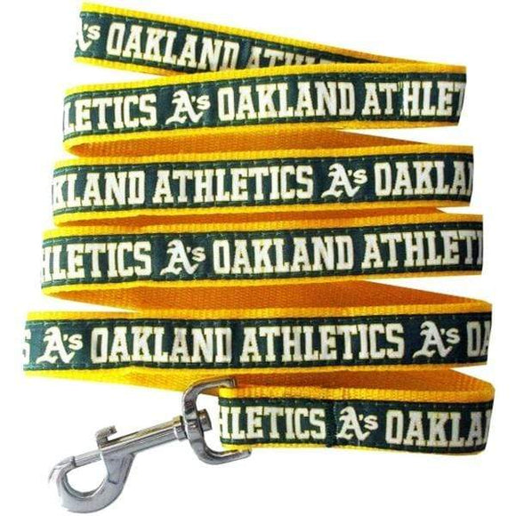 Pets First Dog-products MLB Large Oakland A's Pet Leash By Pets First