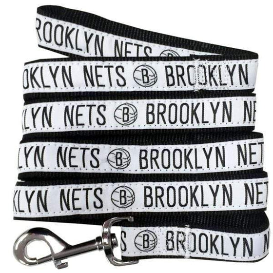 Pets First Dog-products NBA Large Brooklyn Nets Pet Leash By Pets First