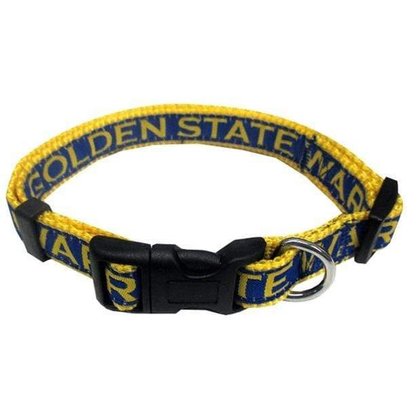 Pets First Dog-products NBA Large Golden State Warriors Pet Collar By Pets First