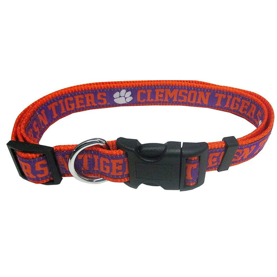 Pets First Dog-products NCAA Large Clemson Tigers Pet Collar By Pets First
