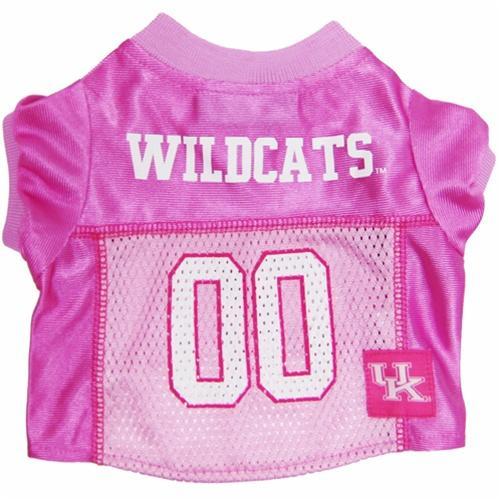 Pets First Dog-products NCAA Large Kentucky Wildcats Pink Dog Jersey