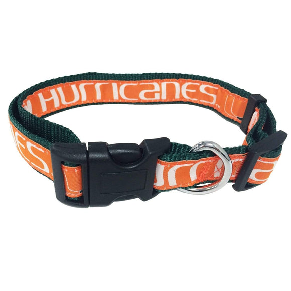 Pets First Dog-products NCAA Large Miami Hurricanes Pet Collar By Pets First