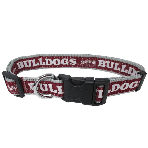 Pets First Dog-products NCAA Large Mississippi State Bulldogs Pet Collar By Pets First