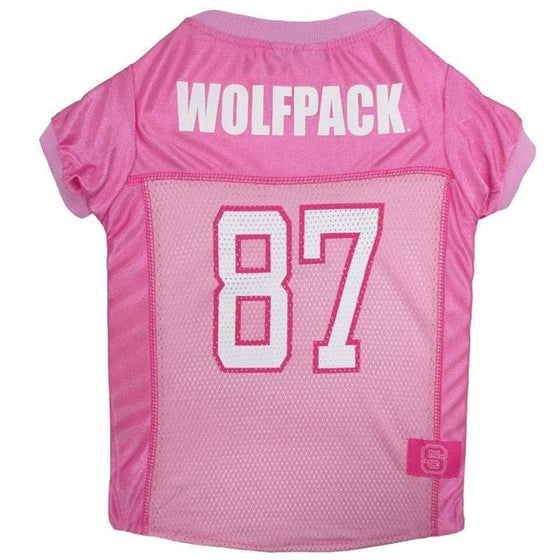 Pets First Dog-products NCAA Large Nc State Wolfpack Pink Pet Jersey
