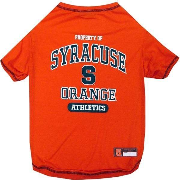 Pets First Dog-products NCAA Large Syracuse Orange Pet T