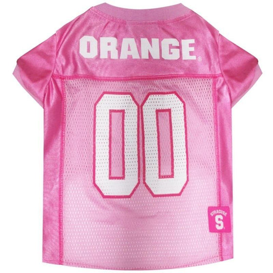 Pets First Dog-products NCAA Large Syracuse Orange Pink Pet Jersey