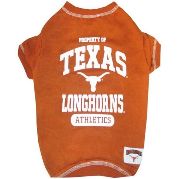 Pets First Dog-products NCAA Large Texas Longhorns Pet Tee Shirt