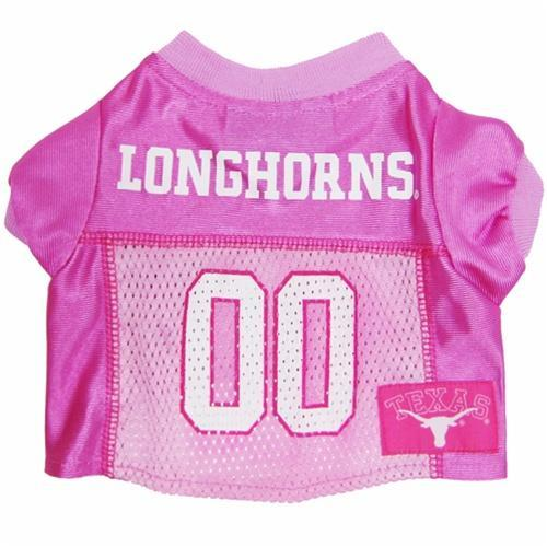 Pets First Dog-products NCAA Large Texas Longhorns Pink Dog Jersey