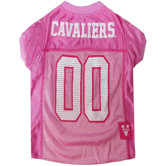 Pets First Dog-products NCAA Large Virginia Cavaliers Pink Pet Jersey