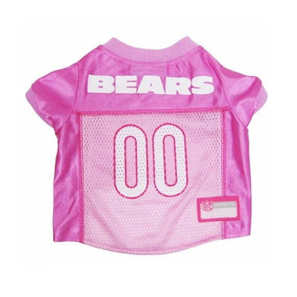Pets First Dog-products NFL Large Chicago Bears Pink Dog Jersey