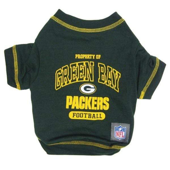 Pets First Dog-products NFL Large Green Bay Packers Dog T