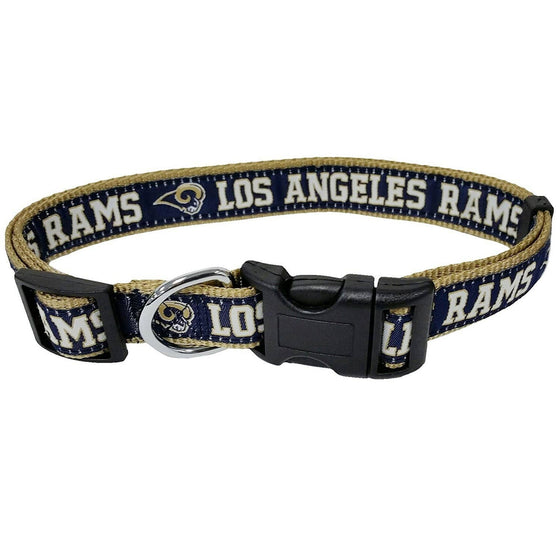 Pets First Dog-products NFL Large Los Angeles Rams Pet Collar By Pets First