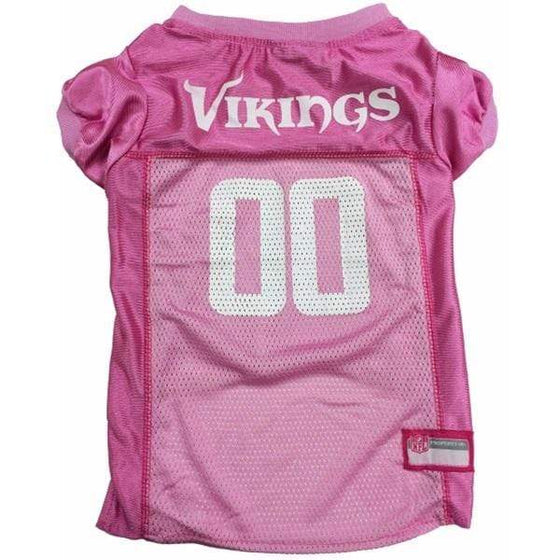 Pets First Dog-products NFL Large Minnesota Vikings Pink Pet Jersey