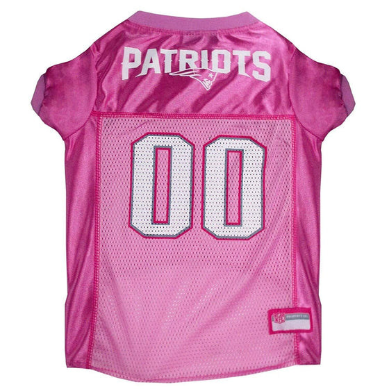 Pets First Dog-products NFL Large New England Patriots Pink Dog Jersey